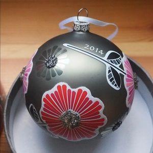 EUC Vera Bradley 2014 Ornament in Cherry Blossoms